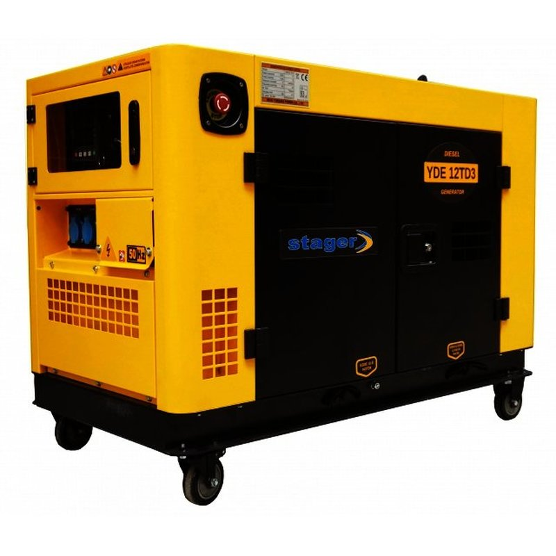 Generator insonorizat Stager YDE12TD3,